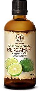 Huile Essentielle de Bergamote 100ml - Citron Bergamia - Aromathérapie - 100% Pure pour Soins de la Peau et Cheveux - Diff...