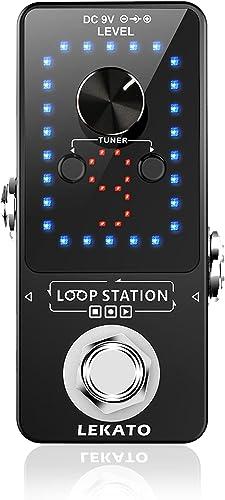 LEAKTO Guitar Looper 9 boucles 40 minutes de temps d'enregistrement Loop Station avec fonction Tuner Overdub illimité...