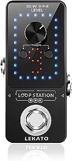 Pédale de guitare, LEAKTO NINE Loop Banks Guitar Looper 40 minutes d'enregistrement avec fonction Tuner Loop Station Overd...