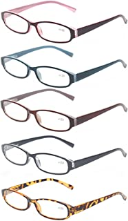 Reading Glasses 5 Pairs Quality Fashion Men Women Spring Hinge Readers