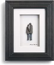 DEMDACO Sharon Nowlan Plus One Espresso Finish 8 x 10 Dimensional Framed Wall Art Plaque