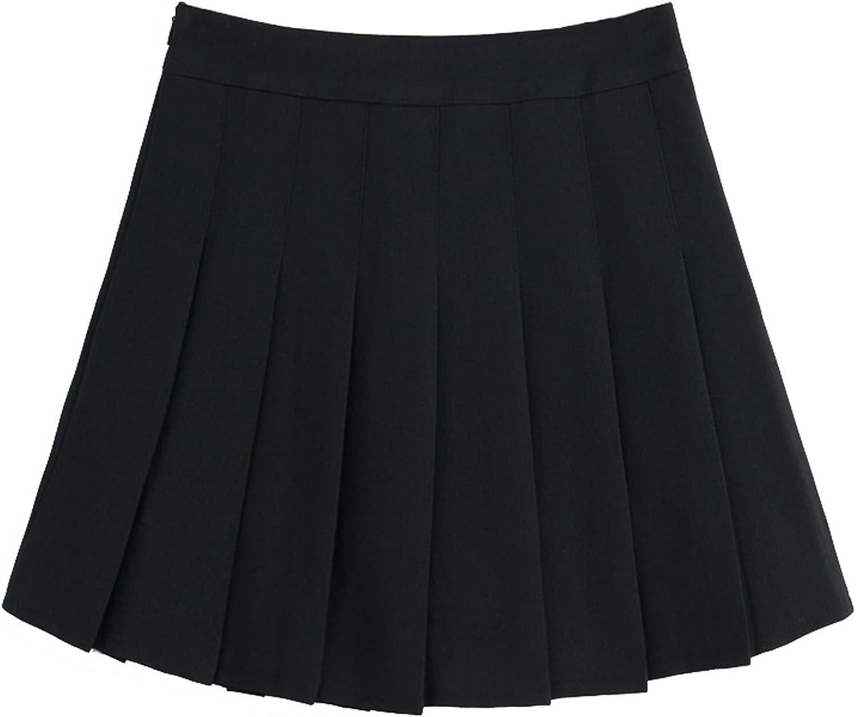 Chouyatou Women's Simple High Waist All Around Pleated ALine Skirt