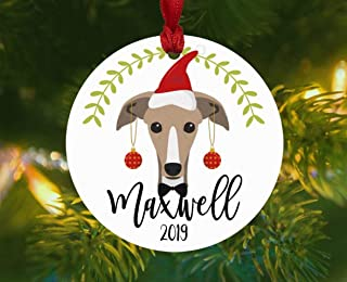 OSWALDO Personalized Greyhound Christmas Ornament Greyhound Rescue Mom Gift Pet Dog Lover Breed Decor