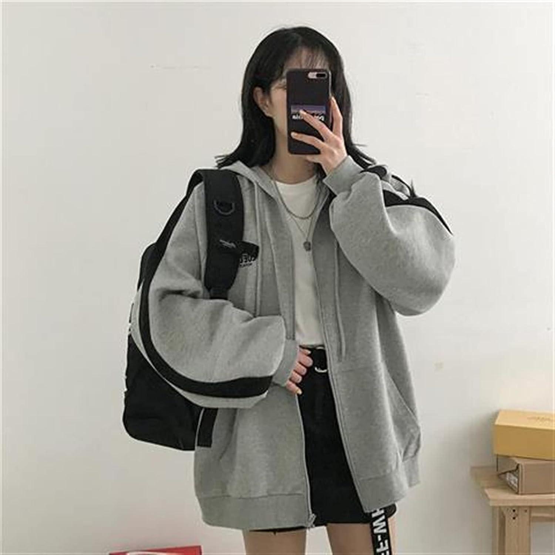 Spring Korean Long Sleeve Sweetshirts Casual Jacket Harajuku Hoodies Chic Female Clothing (Color : Type6, Size : L)