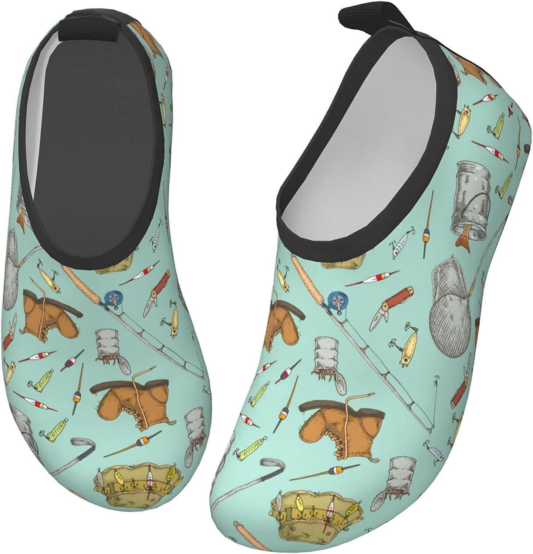 Bluebluesky Fishing Supplies Kids Swim Water Shoes, Non-Slip Quick Dry Barefoot Aqua Pool Socks Shoes for Boys & Girls Toddler