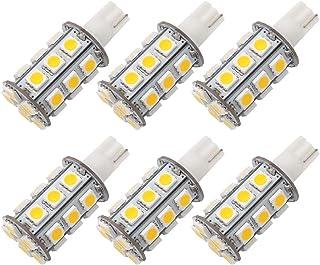GRV T10 921 194 24-5050 SMD LED Bulb lamp Super Bright Warm White DC 12V Pack of 6