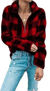 Katblink Womens Winter Long Sleeve Open Front Fuzzy Outwear Coat Long Cardigan