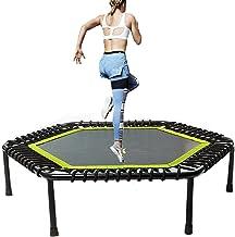 Fitness-trampoline, uit één stuk / niet-opvouwbaar, vet elastisch touw, rebound-trampoline met verstelbare armleuning in h...