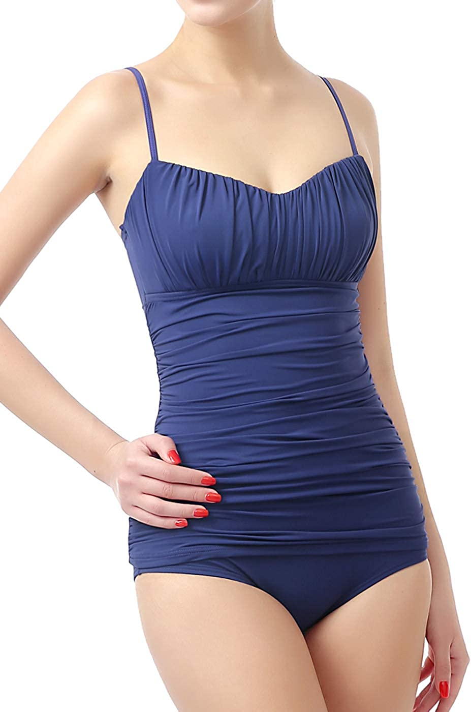 phistic Women's UPF 50+ Tankini Swim Bathing Suit Top & Bottom Set (Regular & Plus Size)