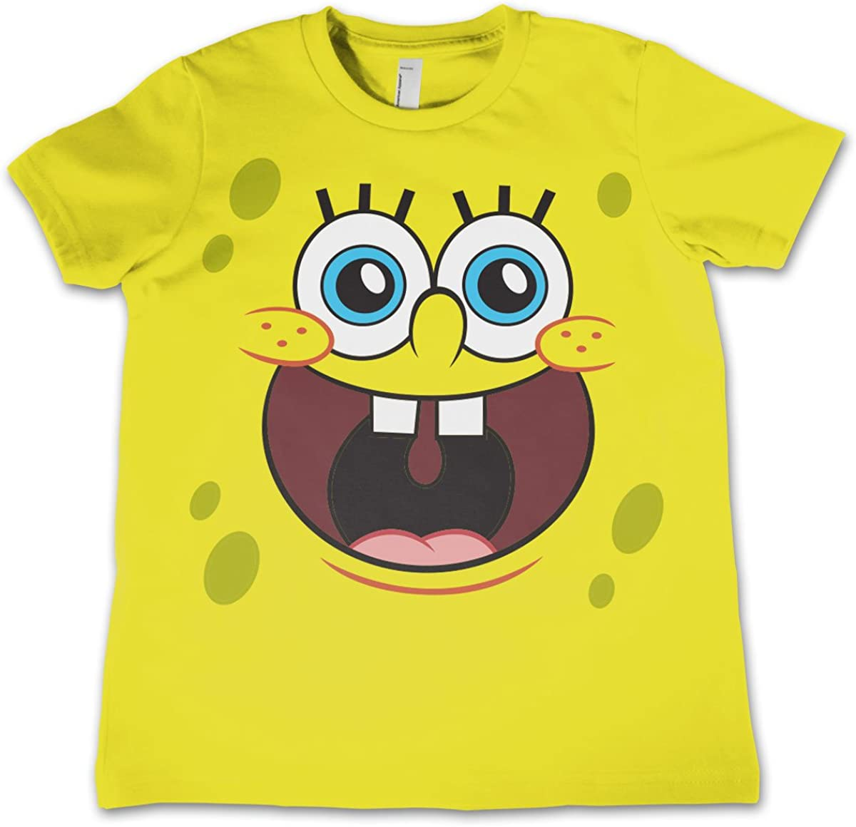 Sponge Happy Face Official Unisex Kids T Shirts Ages 3-12 Years