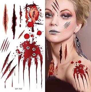 Supperb Temporary Tattoos - Bleeding Wound, Scar Halloween Halloween Tattoos (Bleeding Bullet Wound)