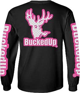 BuckedUp Long Sleeve Black with Pink and Diamond Plate Logo