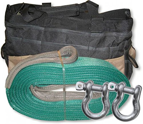 For Sale! BILLET4X4 U.S. Made MEGA Recovery Strap 6 inch X 30 ft Two-PLY with MEGA D-Shackles & Carr...