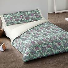 Burrito Blanco - Juego de Funda nórdica 406 para cama 150x190/200 cm, color verde