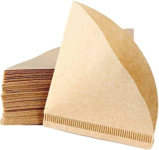 100Pcs V60 Coffee Paper Filter Unbleached Disposable Portable Cone Coffee Filter for 2 To 4 Persons