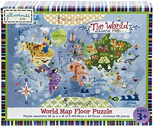 Gibby & Libby The World Around Me Map Puzzle by C.R. Gibson by C.R. Gibson