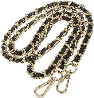 CAREOR, tracolla di ricambio regolabile in pelle con ganci girevoli in metallo, per borsa a tracolla, valigetta, borsa mes...