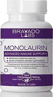 Premium Monolaurin - Bravado Labs - 700mg Vegan caps - 100 Count