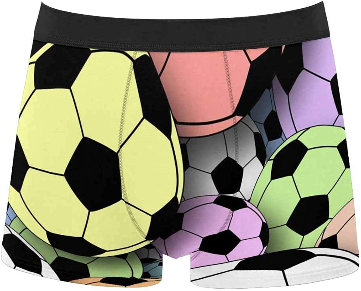 InterestPrint All Over Print Classic Fit Boxer Briefs for Men, Youth Dragon Fruit and Lemon