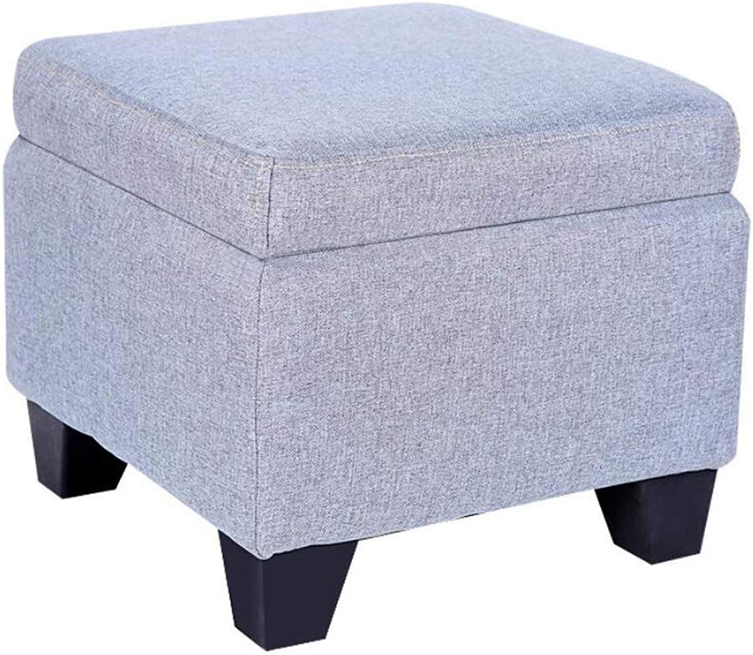 Storage Stool Soft and Environmentally Friendly Breathable wear-Resistant Stool Living Room Sofa Bench Multifunction (color   Purple)