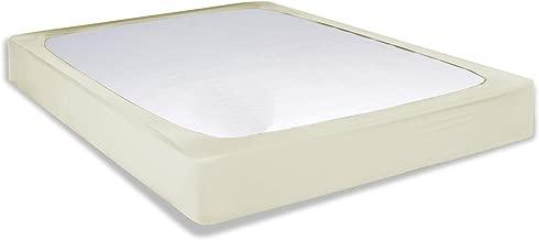 Leggett & Platt Sleep Plush + Ivory Fabric Box Spring Cover, Queen (Renewed)