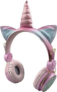 $21 » Sponsored Ad - Kids Bluetooth 5.0 Headphones with Fluffy Bear Ears On-Ear Stereo Wireless Headset with Mic Kids Headband E...