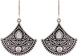 Voylla Drop Earrings for Women (Silver)(8907617869087)