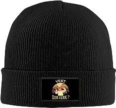 Vert Der Ferk Logo Top Level Beanie Men Women - Unisex Stylish Slouch Beanie Hats Black