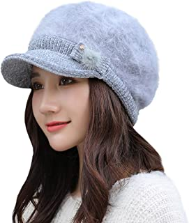 Women Winter Warm Cap Beret Braided Baggy Knit Crochet Beanie Hat Ski Cap