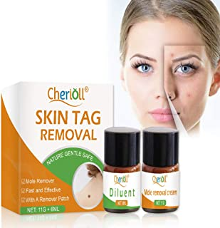 Skin Tag Remover, Mole and Skin Tag Remover, SkinTag Cream, Mole and Skin Tag Remover and Repair Lotion Set, Remove Moles ...