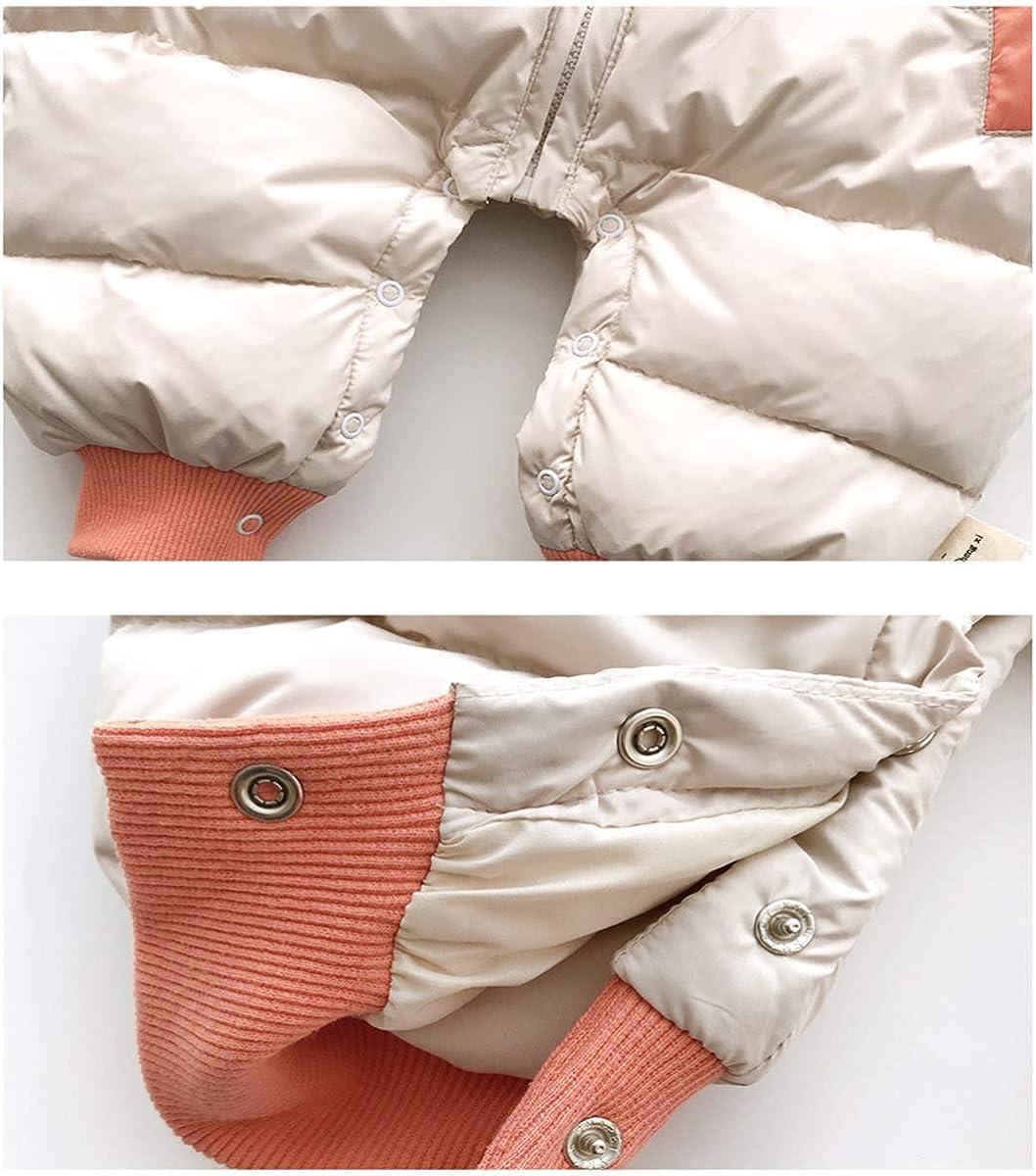 Minizone Baby Strampler mit Kapuze Schneeanzug Wintermantel Overall 0-3 Jahre Jungen M/ädchen Outfits Langarm Jumpsuit Geschenk
