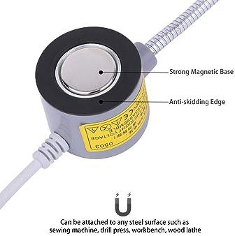 EVISWIY Sewing Machine Light LED Lighting (30LEDs) 6 Watt Multifunctional Flexible Gooseneck Arm Work Lamp with Magne...