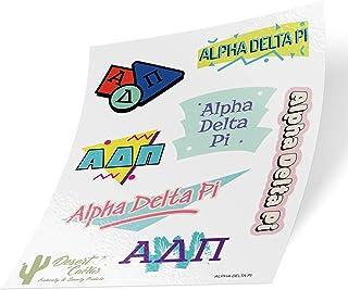 Alpha Delta Pi Themed Sticker Decal Laptop Water Bottle Car ADPi (Full Sheet - 90's)
