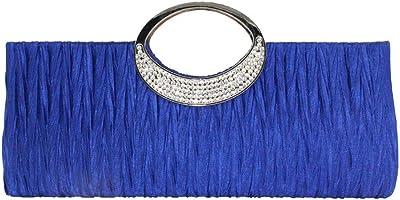 Frauen Strass Dekoration Abendtasche mit Rüschen YunYoud Damen Handtasche Shopper Handtasche Kettenquadrat Paket Mode Party Tasche Weiche quadratische Tasche
