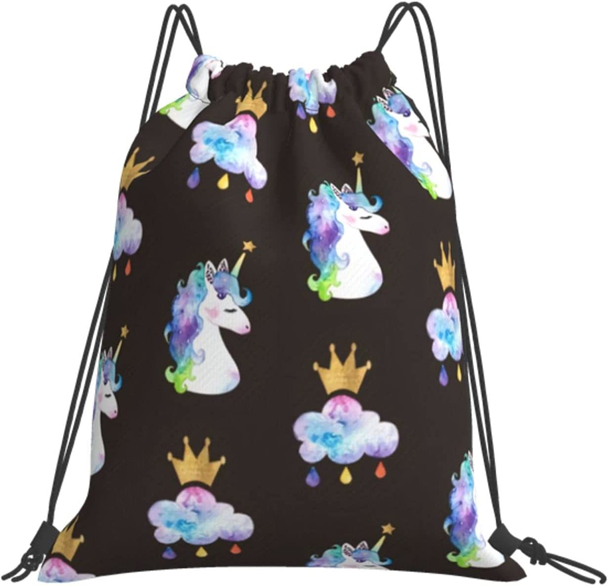 Unicorn Pure White Drawstring Backpack New color Sack Pack Sport Cinch Kansas City Mall Bag