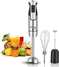 CHEW FUN Multipurpose Immersion Hand Blender Poweful 500 Watt,9-Speed,High Power Low Noise,3-in-1 includes Detachable Chopper,Egg Whisk,Milk Frother with lifetime warranty