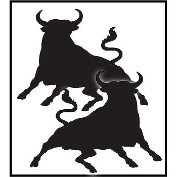 Adesivo Bumper divertente con simbolo toro