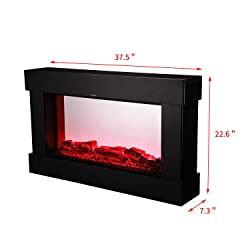 Wonlink Electrical Fireplace Stove with Heater,Wall Mounted LED Flame,Remote Control