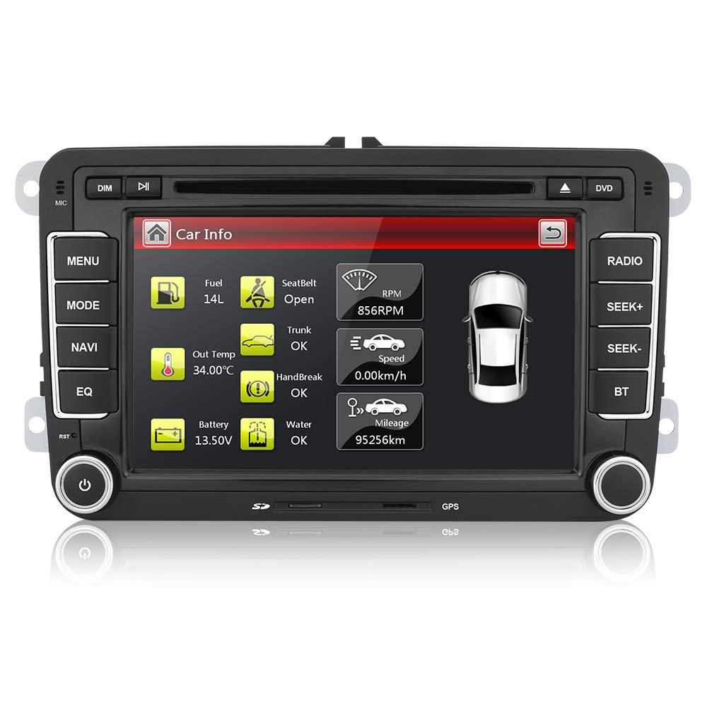 AUMUME 7 pulgadas Radio para VW Seat Golf Polo Passat Pantalla con ...