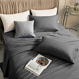 LBRO2M 100% Bamboo Bed Sheet Queen Size 4 Piece Set,Cooling 1800 Thread Count Sheet,16 Inches Deep Pocket,Bedding Super So...