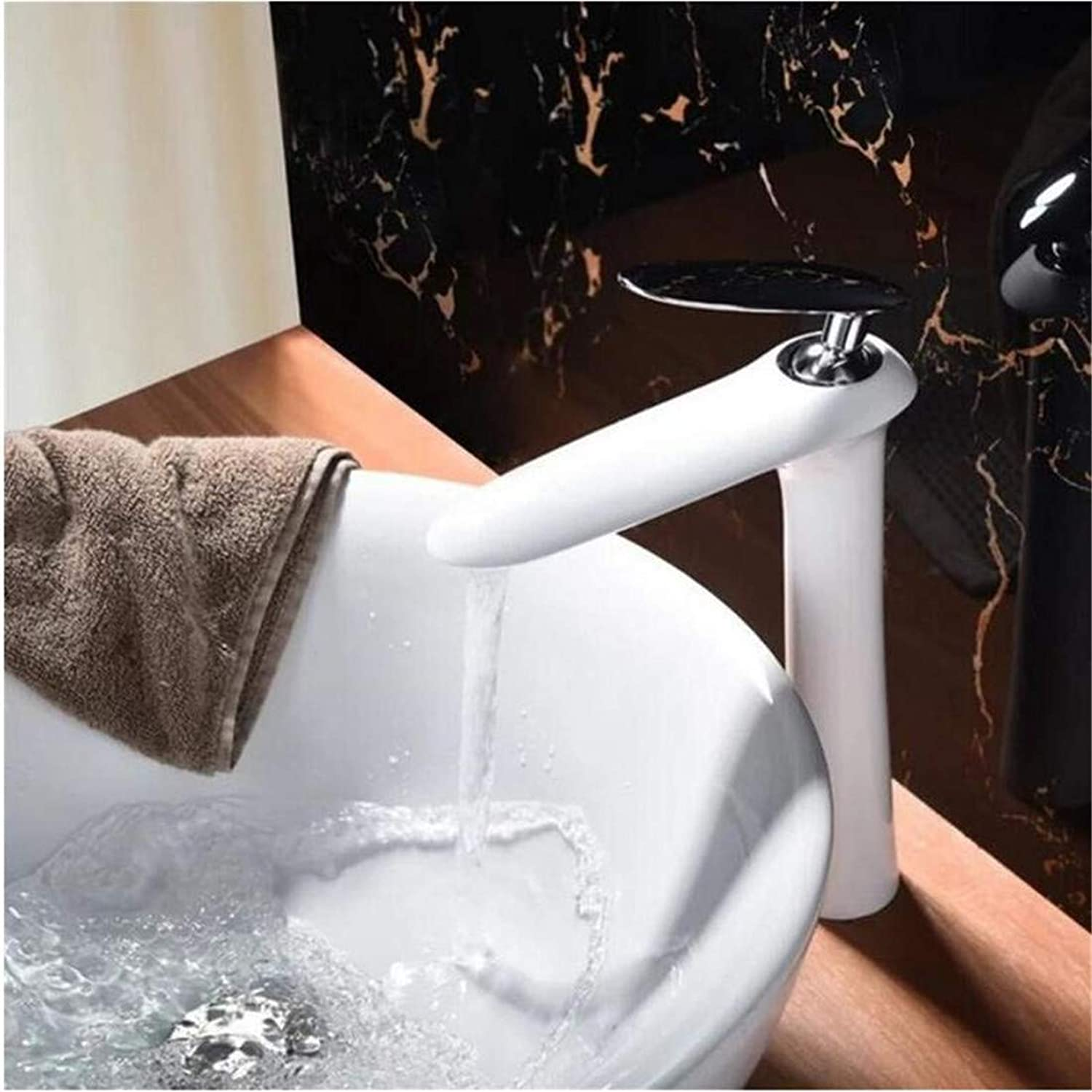 High Quality Vintage Stainless Steel Black Single Lever Bathroom Mixer Deck Mounted Vessel Sink Tap
