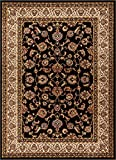 Well Woven Barclay Sarouk Black Traditional Area Rug 7'10' X 9'10'