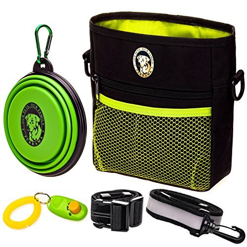 PERRAMA Dog Treat Bag, Training Pouch for Small and Large Dogs with Clicker and Collapsible Food...