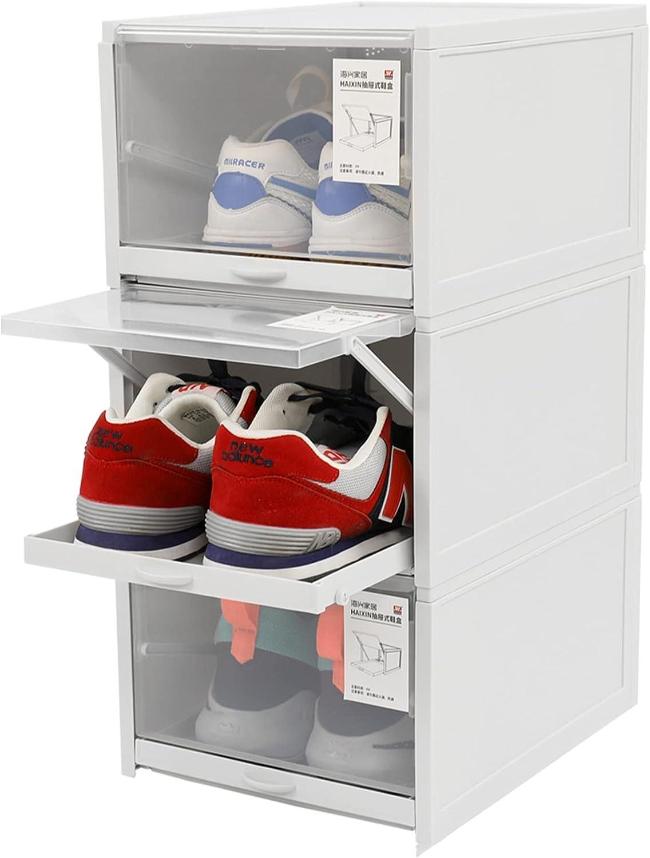 Buy Scyamin 20 Pack Shoe Storage Boxes Shoe Box Clear Plastic ...