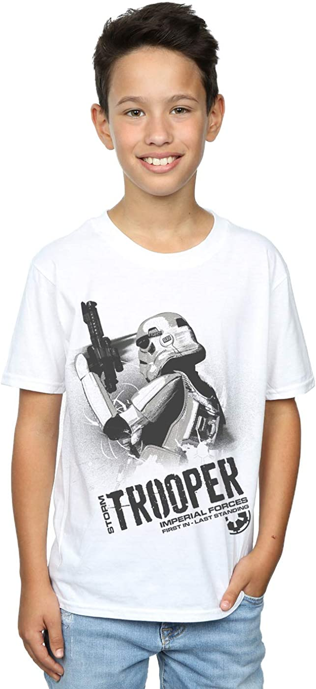 STAR WARS Boys Stormtrooper Imperial Forces T-Shirt 7-8 Years White