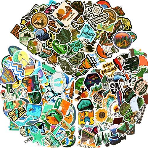 150 Stücke Abenteuer Outdoor Aufkleber Wildnis Natur VSCO Wasserdichte Aufkleber Abziehbilder Wandern Camping Reisen Vinyl Wasserflasche Aufkleber für Laptop Gepäck Fahrrad Auto Gitarre