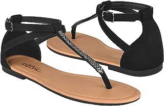 Capa de Ozono Sandalias de Playa Mujer Textil Black 33148-1