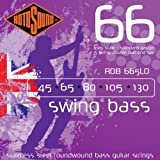Rotosound Stainless Steel Roundwound Bass Guitar Strings Double Ball-End, Standard Gauge 45 / 65 / 85 / 105 / 130