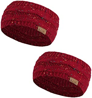 Pingtr Knitted Double Twist Hair Band, Men Women Hair Ball Knitting Headband Elastic Handmade Sport Hair Band Turban