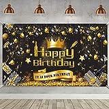 Decoración Fiesta Cumpleaños, Póster Señal Tela Extra Grande para Aniversario Fondo Foto Pancarta Fondo, Materiales Fiesta Cumpleaños (5,9 x 3,28 pies) (C)